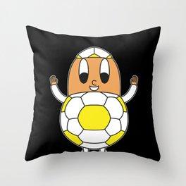 Soccer-Ball Egg Throw Pillow