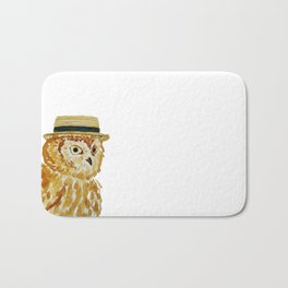 Dapper Owl or Owl Capone? Bath Mat