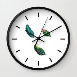 Watercolor Tribal Feathers Wall Clock