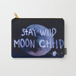 Stay wild moon child (purple) Carry-All Pouch
