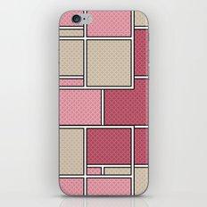 Pink beige check . iPhone & iPod Skin