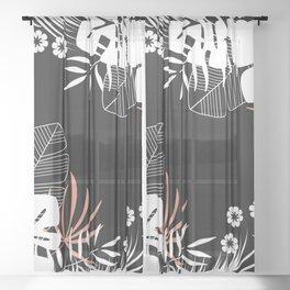 Tropical pattern 045 Sheer Curtain