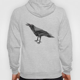 Raven Geometric Grey Triangles Hoody