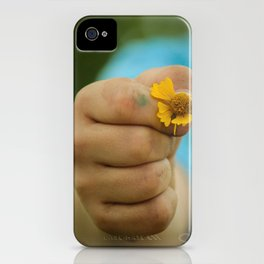 I Am Still Painting Flowers for You. iPhone Case