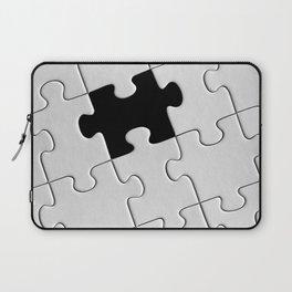 White Puzzle Laptop Sleeve