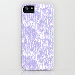 Cascading Wisteria in Lilac + White iPhone Case