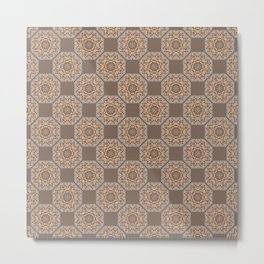 Beach Tiled Pattern Metal Print