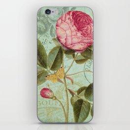 Victorian Rose & French Ephemera Art Print - Vintage Rose Collage Wall Art iPhone Skin