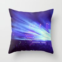 concert Throw Pillows featuring Concert Lights by Tyler Shaffer