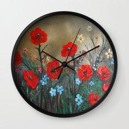 Impasto Poppy Love - Talins Poppy Love Wall Clock