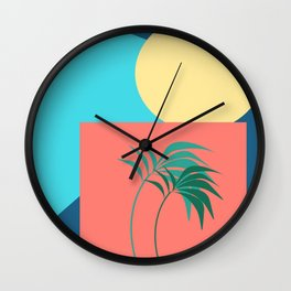 Shapes of the Palm Wall Clock
