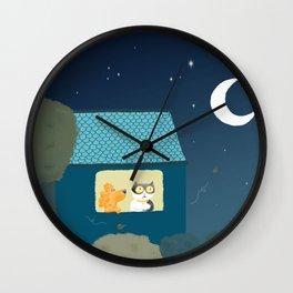 Dharma & Maya are dreaming Wall Clock