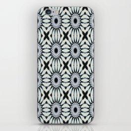 Ivory & Blue Pinwheel Flower Pattern iPhone Skin