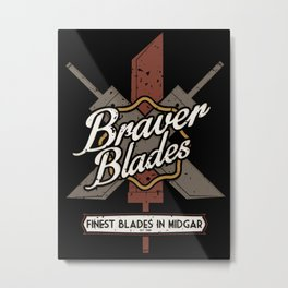 Final Fantasy VII - Braver Blades Metal Print