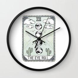 The Eye Roll Wall Clock
