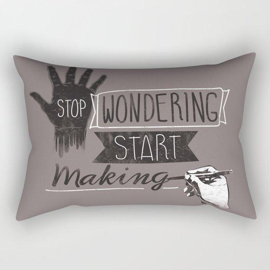 Stop Wondering Start Making Rectangular Pillow