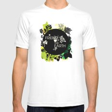 Friend of the Earth Mens Fitted Tee White SMALL