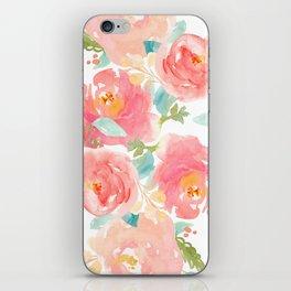 Watercolor Peonies Summer Bouquet iPhone Skin