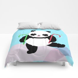 Candy Cane Panda Comforters