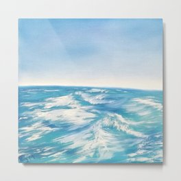 Gentle Waves Metal Print