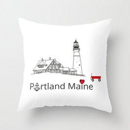 Portland Maine Throw Pillow