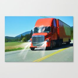 Big Red - Lorry Art for Truck-lovers and Truckers Canvas Print