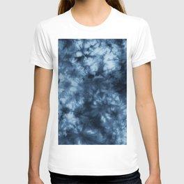 Dark Midnight Blue Boho Tie Dye Pattern T-shirt