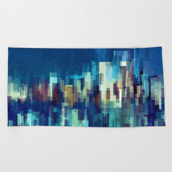 City Nights Beach Towel