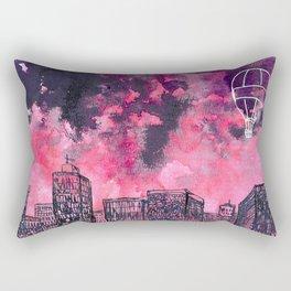 building watercolor city Rectangular Pillow