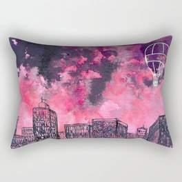 building watercolor city Rectangular Pillow