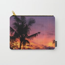 Sunset and Palmtree in Bali Carry-All Pouch