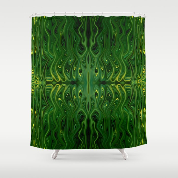 Corn Field Squid By Chris Sparks Shower Curtain