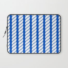 Bight blue and white rope pattern Laptop Sleeve