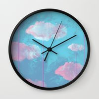cloud Wall Clocks featuring Cloud  by Tony Vazquez