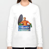 aquaman Long Sleeve T-shirts featuring The Wrong Place At The Wrong Time by Beastie Toyz