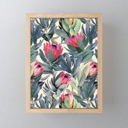 Painted Protea Pattern Framed Mini Art Print