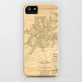 Village of Perry, Wyoming County, New York (1902) iPhone Case