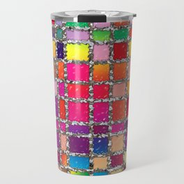 Stained Glass Window Multicolour Pattern Travel Mug