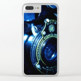 Capturing Yesteryear a vintage Kodak folding camera photograph Clear iPhone Case