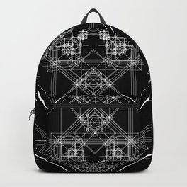 Black sacred geometry design with occult and wicca style Backpack