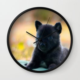 Cuter Herder Shepherd Puppy 4 weeks old Wall Clock