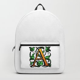 'A' - Alphabet Monogram Letter Backpack
