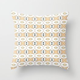 Ethnic symmetrical floral ornament Throw Pillow