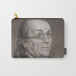 Vintage Portrait of Ben Franklin (1787) Carry-All Pouch