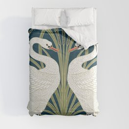 Swan Rush and Iris by Walter Crane Comforters