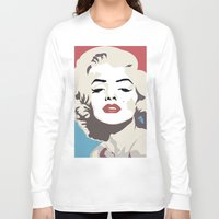 marylin monroe Long Sleeve T-shirts featuring Marylin Monroe by Creativehelper