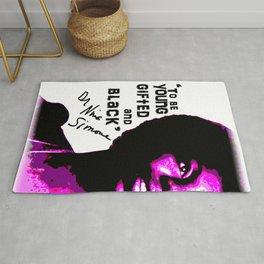 Nina Simone - To be Young Gifted and Black Rug