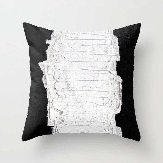 Black, White & White Throw Pillow