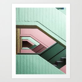 Color stairs Art Print