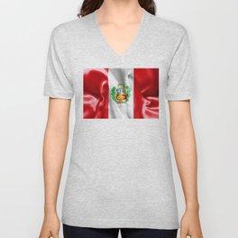 Peru Flag Unisex V-Neck